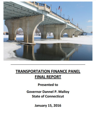 The cover of the transportation advisory committee report. Click to view full report.